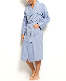 Herringbone Woven Shawl Collar Robe