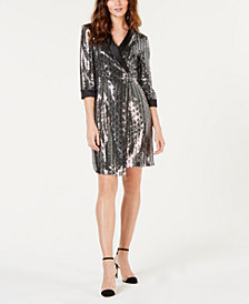 I.N.C. Petite Mirror-Ball Mini-Blazer Dress, Created for Macy's