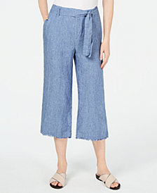 Charter Club Tie-Waist Cropped Pants, Created for Macy's