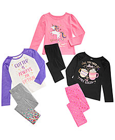 Epic Threads Little Girls Long-Sleeve T-Shirts & Leggings Separates, Created for Macy's