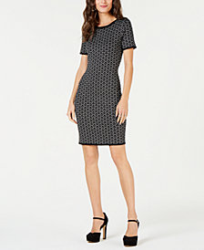MICHAEL Michael Kors Metallic Jacquard Dress, Regular & Petite Sizes