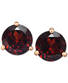 Rhodolite Garnet Stud Earrings (2-3/4 ct. t.w.) in 14k Gold