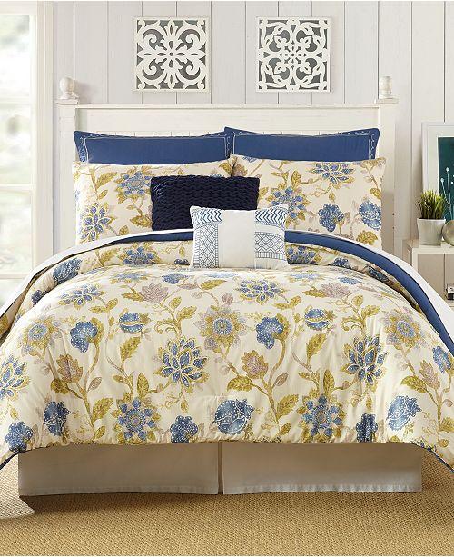 PEKING HANDICRAFT INC Presidio Square Monterey Queen Comforter Set - 7 Piece