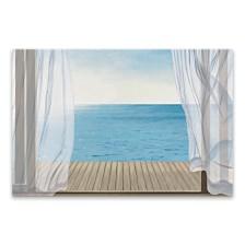 Blue Breeze Printed Canvas