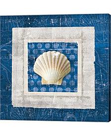 Sea Shell III on Blu by Belinda Aldrich Canvas Art