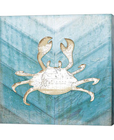 Coastal Crab By Jennifer Pugh Canvas Art