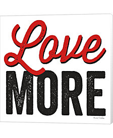 Love More on White by Michael Mullan Canvas Art