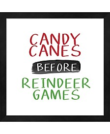 Candy Canes Before R By Linda Woods Framed Art