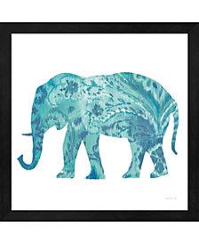 Boho Teal Elephant 2 By Danhui Nai Framed Art
