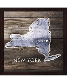 New York Rustic Map By Pi Galerie Framed Art