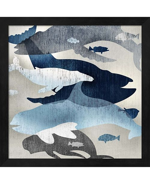 Metaverse Whale Watching II By Edward Selkirk Framed Art