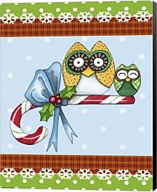 Candy Cane Owls Flag By Jennifer Nilsson Canvas Art