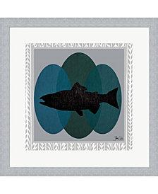 Salmon by Shanni Welsh Framed Art
