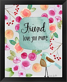 Friend Love You More By Katie Doucette Framed Art