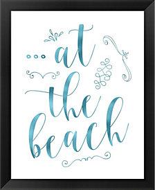 At the Beach Blue by Tara Moss Framed Art