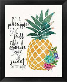 Be A Pineapple By Jo Moulton Framed Art