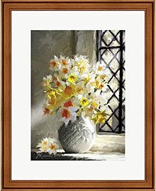 Daffodils At Window by The Macneil Studio Framed Art