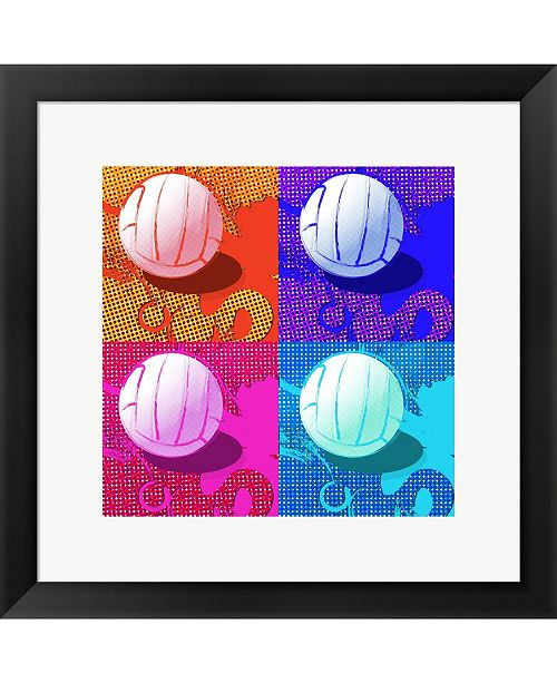 Metaverse Volleyball Pop By Sports Mania Framed Art
