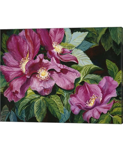 Metaverse Wild Red Roses By Joanne Porter Canvas Art