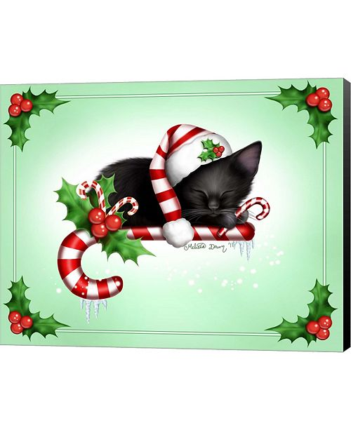 Metaverse Candy Cane Christmas By Melissa Dawn Canvas Art