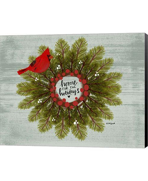 Metaverse Cardinal Wreath By Katie Doucette Canvas Art