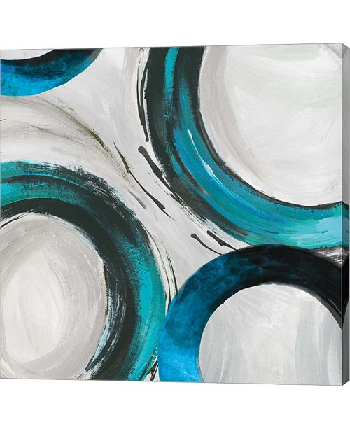 Metaverse Teal Ring I By Tom Reeves Canvas Art