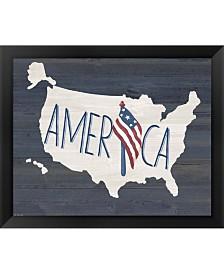 America By Jo Moulton Framed Art