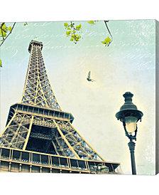 Paris Eiffel Letter by Sue Schlabach Canvas Art