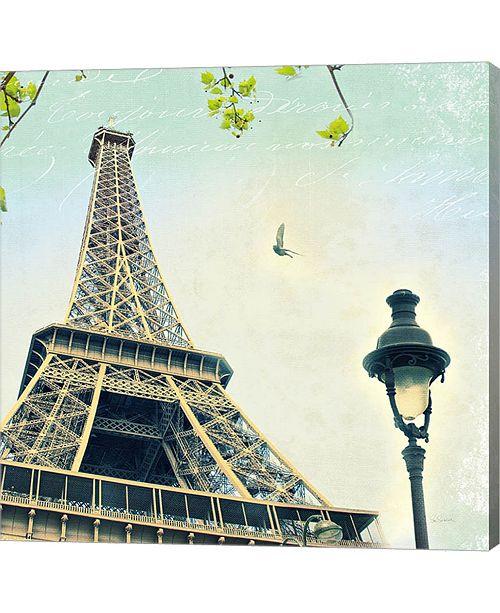 Metaverse Paris Eiffel Letter By Sue Schlabach Canvas Art