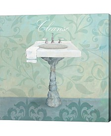 Damask Bath Sink By Avery Tillmon Canvas Art