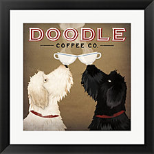 Doodle Coffee Double IV by Ryan Fowler Framed Art