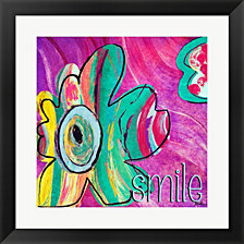 Bright Collage Flowers I by Patricia Pinto Framed Art
