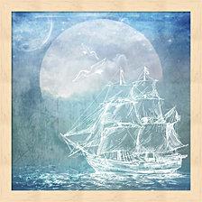 Sailor Away Ship 1 By Lightboxjournal Framed Art
