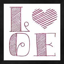 Love Heart Pink By Sd Graphics Studio Framed Art