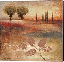 Warm Textural Landscape I by Michael Marcon Canvas Art