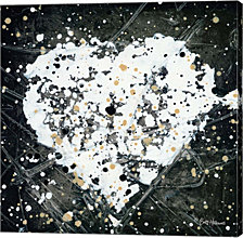 Emotions Scenes White Heart by Britt Hallowell Canvas Art