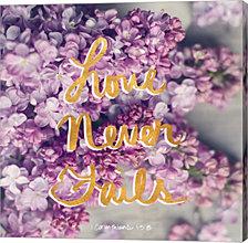 Love Never Fails by Sarah Gardner Canvas Art