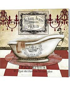 Red French Bath II By Tre Sorelle Studios Canvas Art