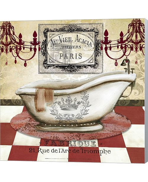 Metaverse Red French Bath II By Tre Sorelle Studios Canvas Art