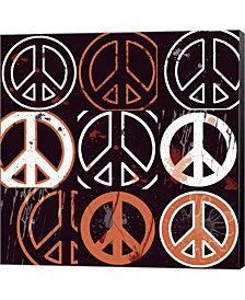Peace Mantra Orange By Erin Clark Canvas Art