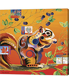 Squirreling Away by Bob Coonts Canvas Art