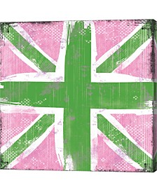Union Jack Pink And By Louise Carey Canvas Art