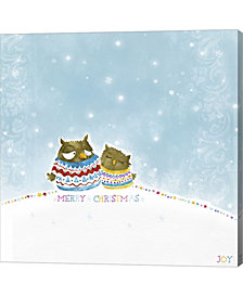 Merry Christmas Owl By Dbk-Art Licensing Canvas Art