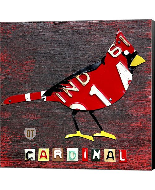 Metaverse Indiana Cardinal By Design Turnpike Canvas Art