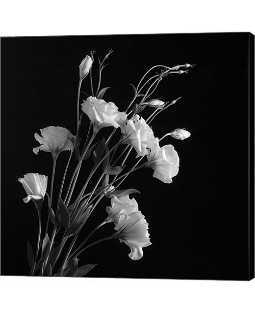 Metaverse white flowers gray by michael harrison canvas art wall main image mightylinksfo