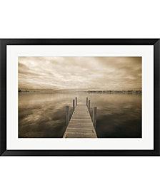 Dock At Crooked Lake By Monte Nagler Framed Art