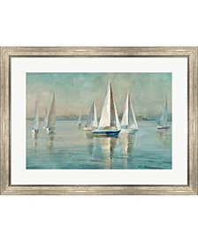 Sailboats At Sunrise By Danhui Nai Framed Art