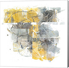 Moving in and Out of Traffic II Yellow Grey by Mike Schick Canvas Art