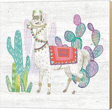 Lovely Llamas V by Mary Urban Canvas Art