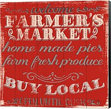 Farmers Market X By Janelle Penner Canvas Art